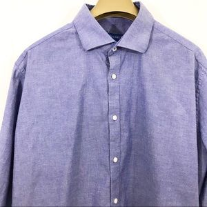 Vince Camuto Shirt Slim Fit Chambray Button Front